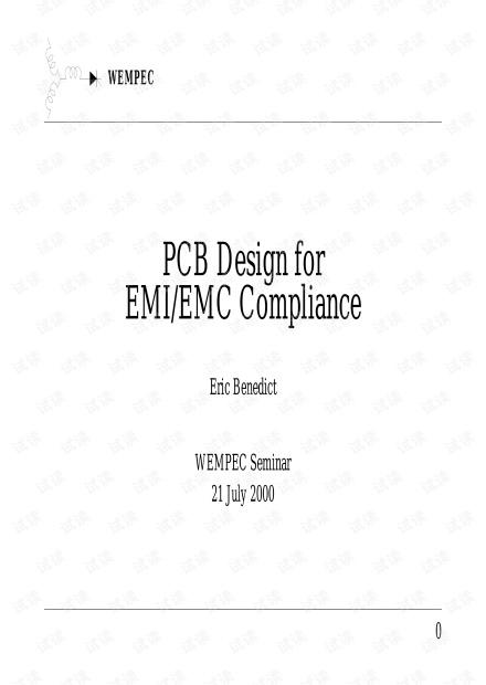 Design for PCB EMI-EMC Compliance