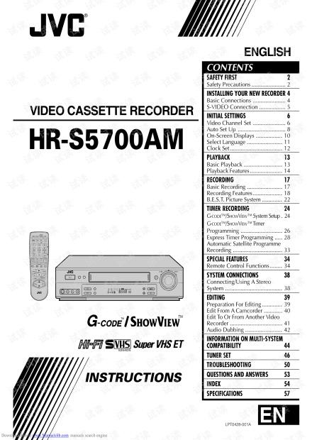 JVC家用录像机HR-S5700AM说明书---英文版.pdf