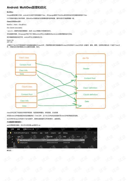 Android: MultiDex原理和优化