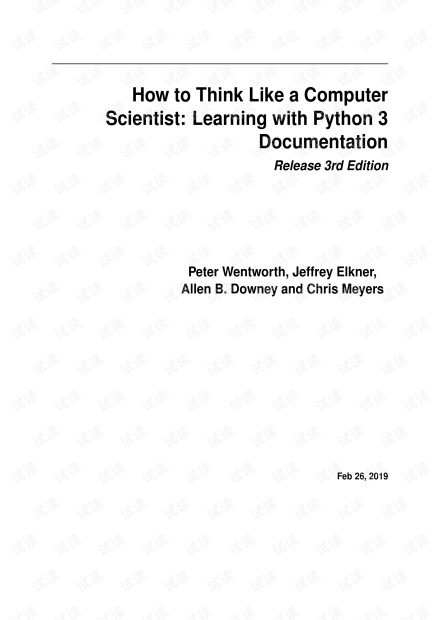 How to Think Like a Computer Scientist - Learning with Python 3 documentation