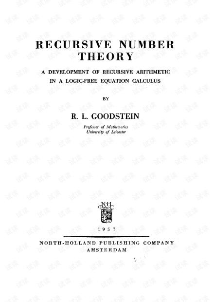 [SLFM 020] Recursive Number Theory - R.L.Goodstein (NH 1957)(T).pdf