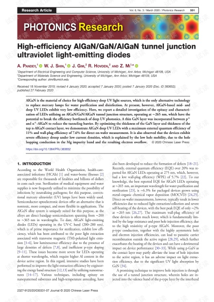 High-efficiency AlGaN/GaN/AlGaN tunnel junction ultraviolet light-emitting diodes