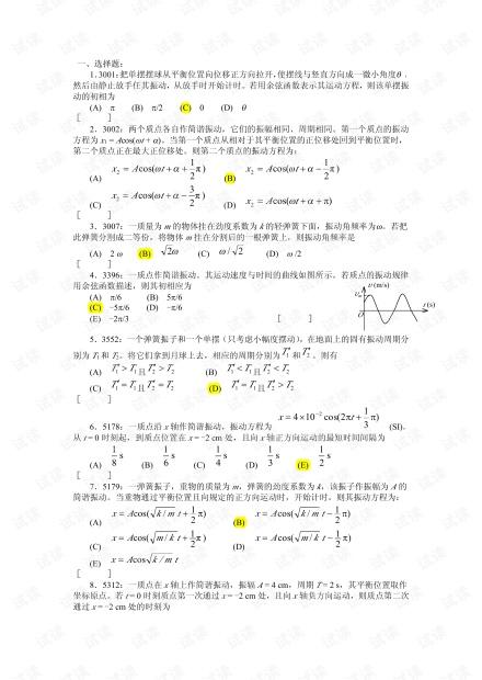 大学物理习题库(部分含答案).pdf