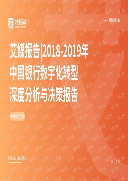 2018-2019年中国银行数字化转型深度分析与决策报告.pdf