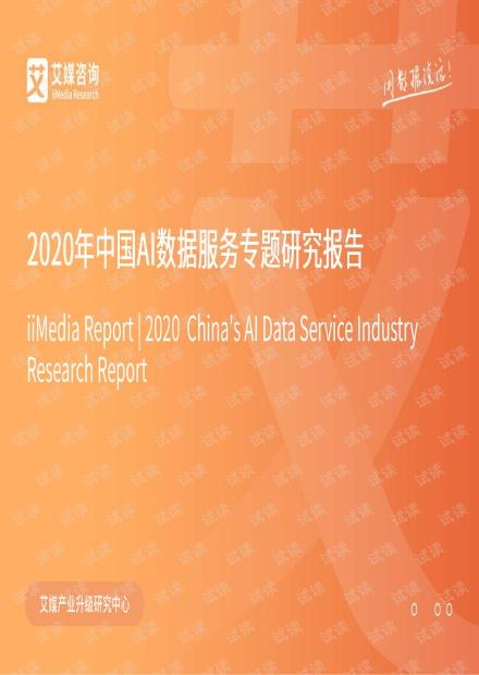 2020年中国AI数据服务专题研究报告.pdf