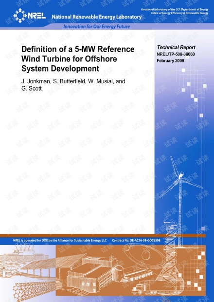 Definition of a 5-MW Reference Wind Turbine for Offshore System Development.pdf