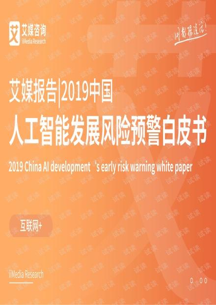 2019中国人工智能发展风险预警白皮书.pdf