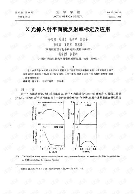 X光掠入射平面镜反射率标定及应用