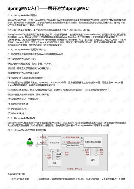 SpringMVC入门——跟开涛学SpringMVC