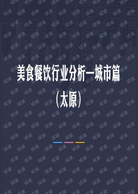 太原美食餐饮行业分析.pdf