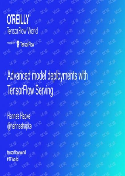 Advanced model deployments with TensorFlow Serving Presentation.pdf