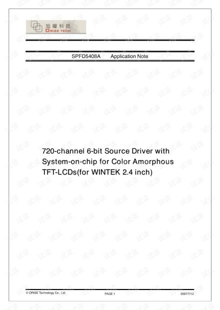 SPFD5408A WINTEK 2.4 inch Application Note_20070712.pdf