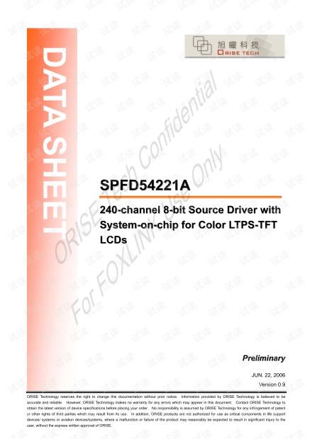 SPFD54221A_0.9_FOXLINK_20060622.pdf