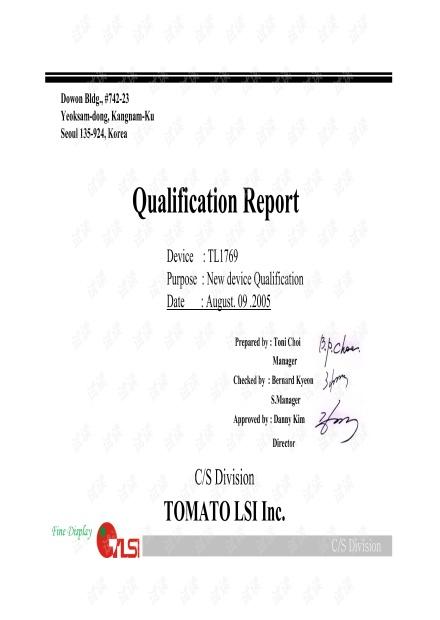TL1769 Qualification Report_20050809.pdf
