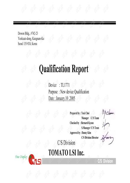 TL1771 Qualification Report_20050110.pdf