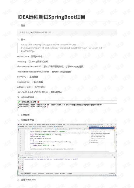 IDEA远程调试SpringBoot项目.pdf