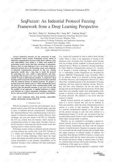 SeqFuzzer:深度学习视角的工业协议模糊化框架