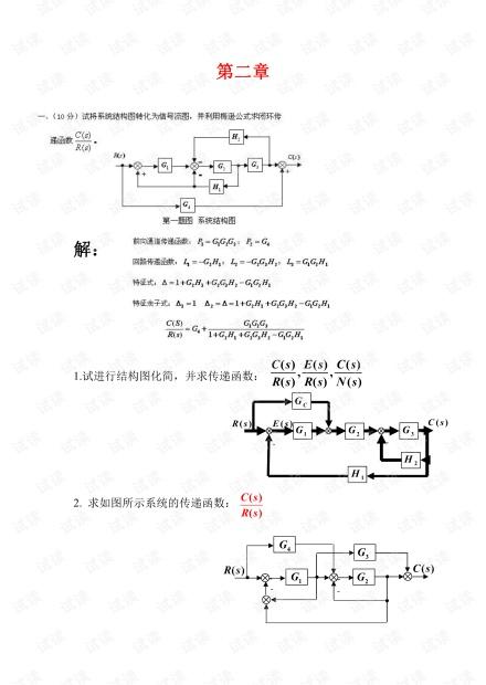 浙江科技学院《自动控制原理》考试题整理.pdf