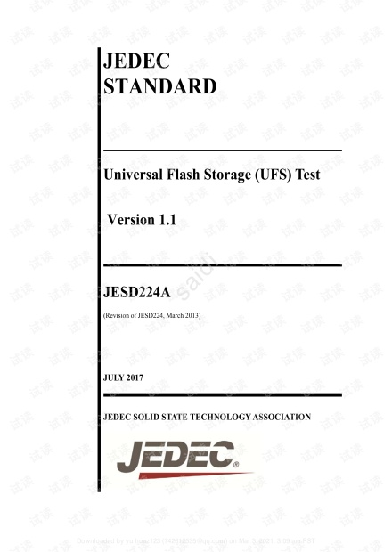 JESD224A-Flash Storage-Flash存储标准