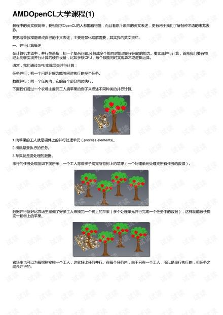 AMDOpenCL大学课程(1)
