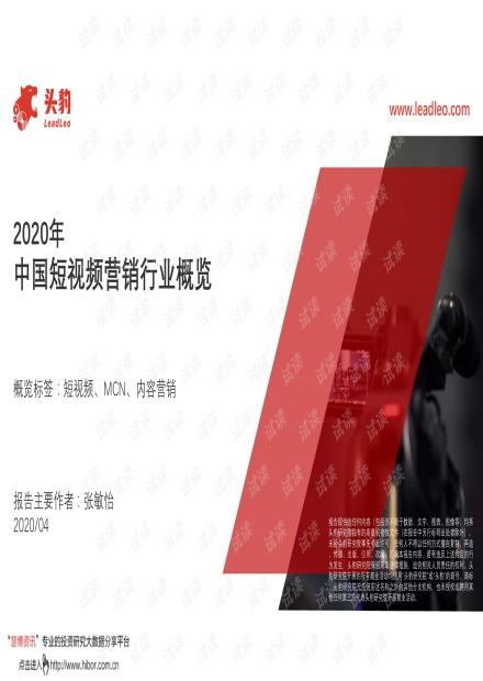 2020年中国短视频营销行业概览.pdf