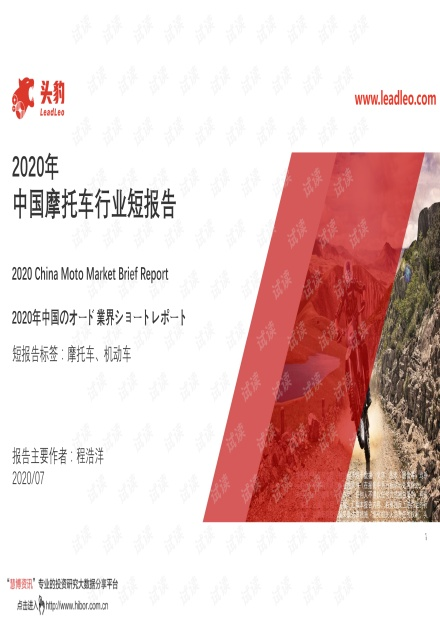 2020年中国摩托车行业短报告.pdf