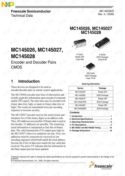 MC145026-数据手册
