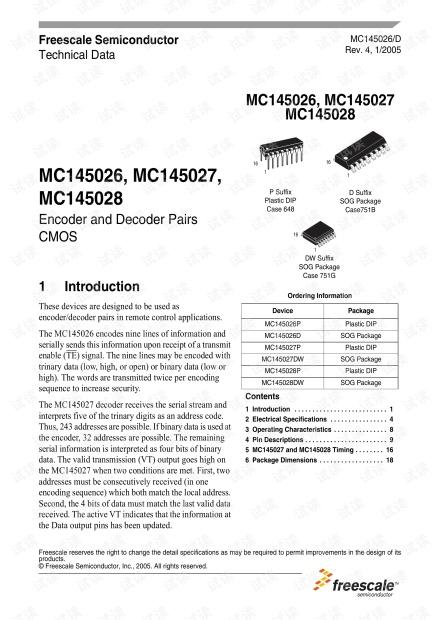 MC145026~28.数据手册