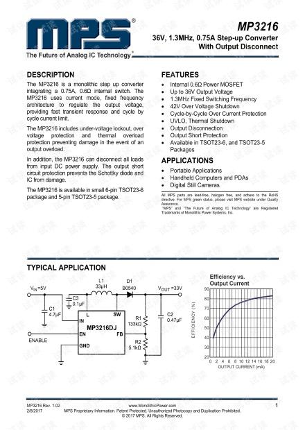 MP3216.芯片数据手册