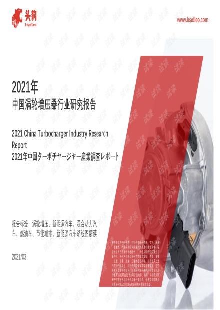 2021年中国涡轮增压器行业研究报告.pdf