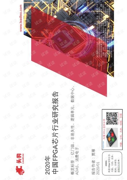 2020年中国FPGA芯片行业研究报告(分享版).pdf