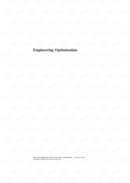 Engineering Optimization: Theory and Practice 4th