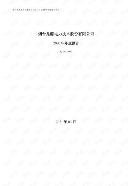 龙源技术:2020年年度报告.PDF