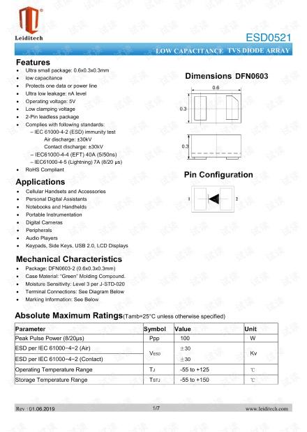 DFN0603_ESD0521.pdf