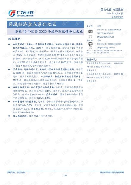 20210409-广发证券-区域经济盘点系列之五:安徽49个区县2020年经济财政债务大盘点.pdf