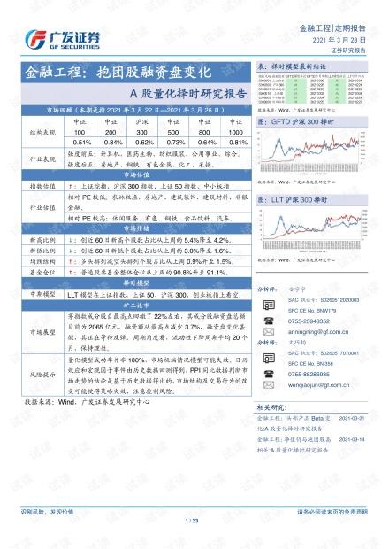 20210328-广发证券-金融工程:A股量化择时研究报告,抱团股融资盘变化.pdf