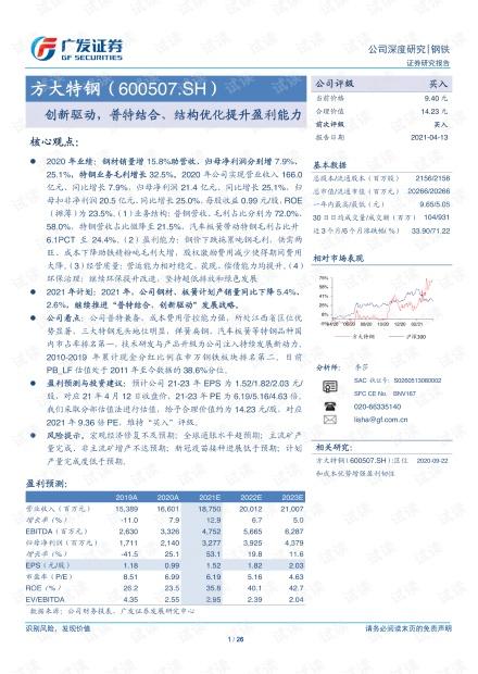 20210413-广发证券-方大特钢-600507-创新驱动,普特结合、结构优化提升盈利能力.pdf