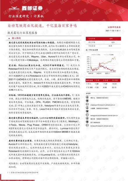 激光雷达行业深度报告:自动驾驶商业化提速,千亿蓝海百家争鸣-20210302-西部证券-53页.pdf