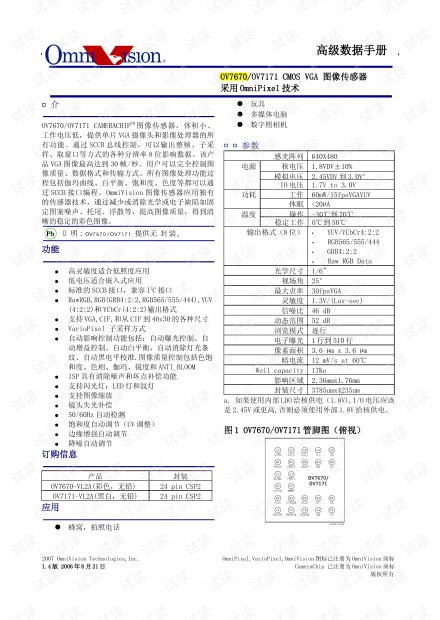 OV7670_Datasheet(中文版).pdf