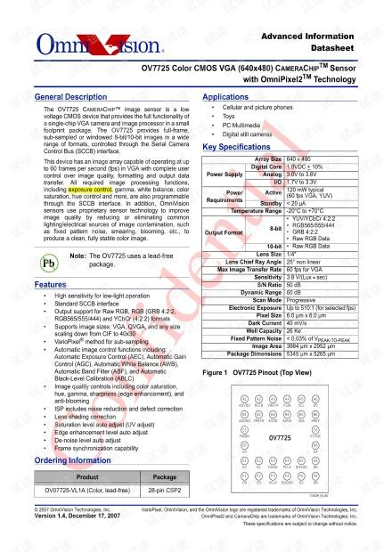 OV7725 Datasheet v1.4.pdf