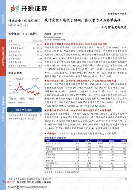 20210414-开源证券-博威合金-601137-公司信息更新报告:疫情受挫业绩低于预期,蛰伏蓄力只为再攀高峰.pdf