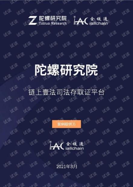 陀螺研究院《链上壹法司法存取证平台》.pdf