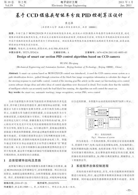 基于CCD摄像头智能车分段PID控制算法设计