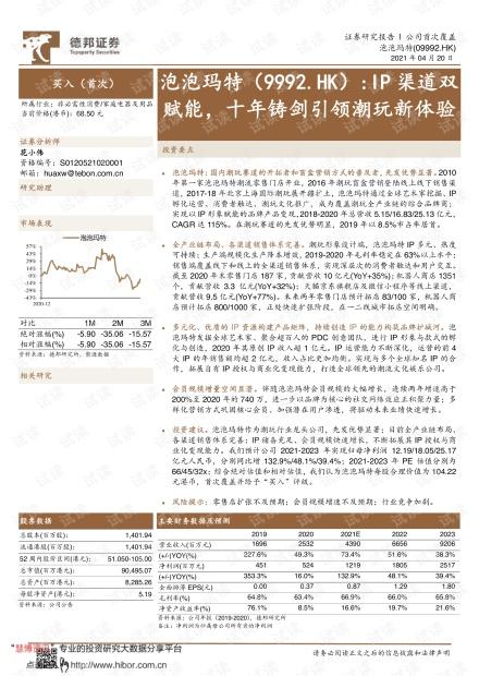 20210420-德邦证券-泡泡玛特-9992.HK-IP渠道双赋能,十年铸剑引领潮玩新体验.pdf