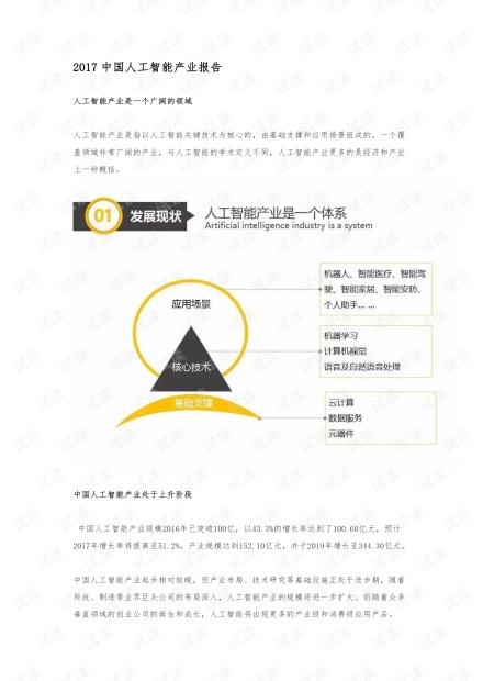 2017中国人工智能产业报告.pdf