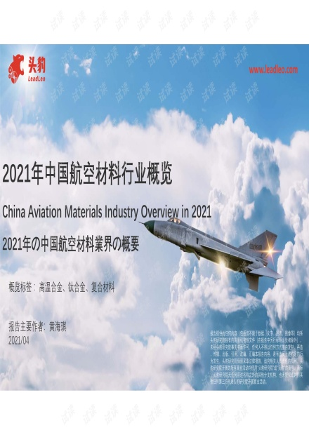 20210421-头豹研究院-2021年中国航空材料行业概览.pdf