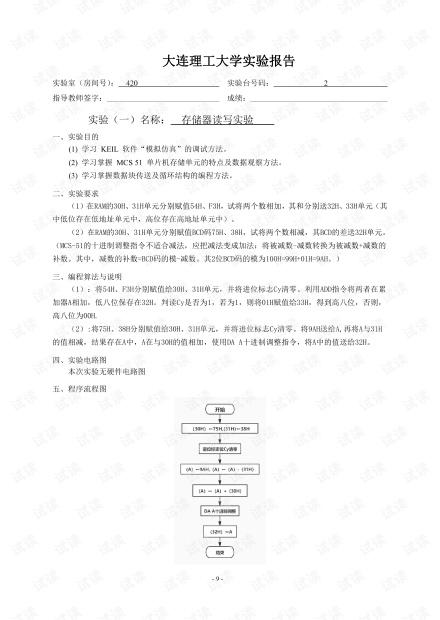 得到v单片机实验报告1.pdf