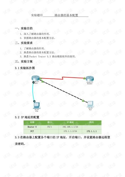 路由器的基本配置.pdf
