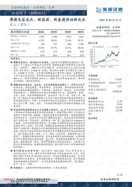 20210421-东吴证券-法拉电子-600563-薄膜电容龙头,新能源、新基建推动新成长.pdf