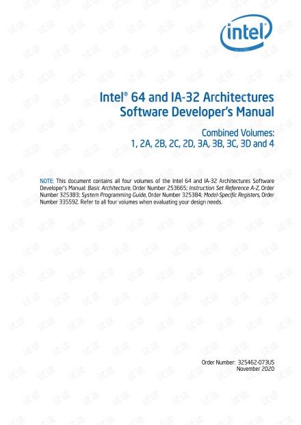 英特尔64和 IA-32 体系结构的软件开发人员手册合集.pdf